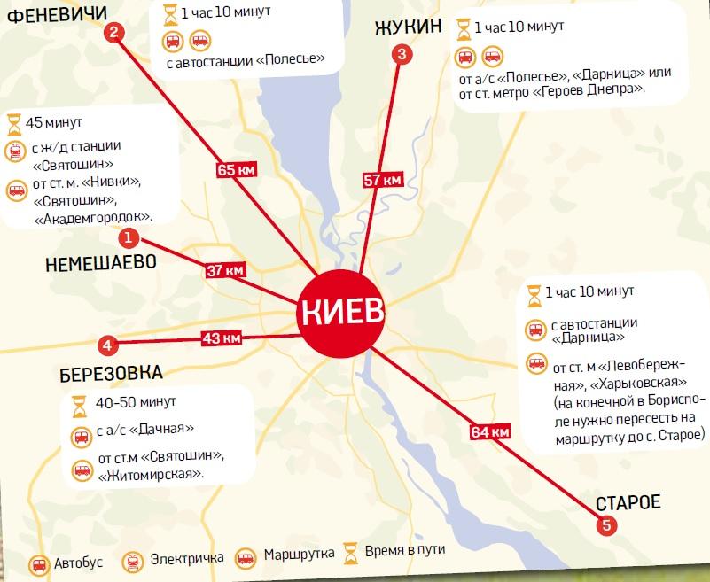 Пятерка грибных мест Киевской области