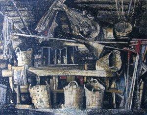 повети – помещения, где хранились лошадиные упряжи, бороны и сохи