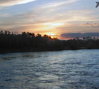 Закат над Кубанью