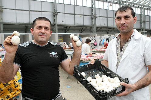 Перекупщики предлагают шампиньоны, выращенные, по их словам, в Кинеле