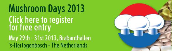 C 29 по 31 мая 2013 года в Голландии пройдет уже тридцать третья по счету Mushroom Day 2013, профессиональная выставка производителей грибов.